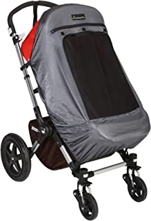 SnoozeShade Plus Deluxe (6m+) | Pram Sunshade (blocks 97.5% of UV) and Baby Sleep Aid