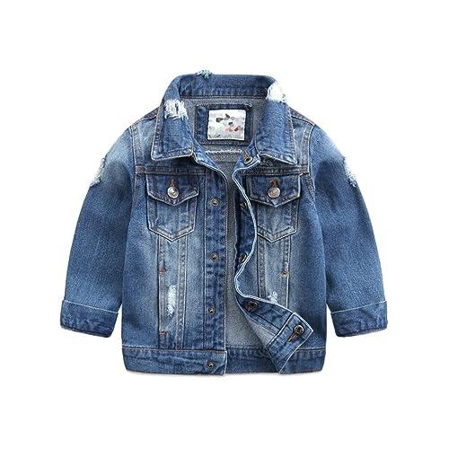 b896d1e2e92 Baby Boys' Basic Denim Jacket Button Down Jeans Jacket Top