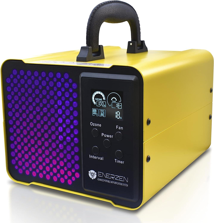 Enerzen O-922D - Digital Ozone Generator - O3 Air Purifier Ionizer Deodorizer Sterilizer with Adjustable Settings for Any Room Size