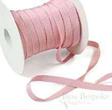 3 Yards of Vera 3/8'' Cotton & Viscose Petersham Grosgrain Ribbon, Cotton Candy Pink, Made in Italy