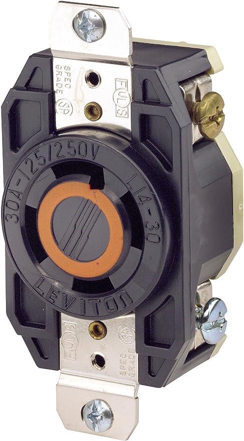 30 Amp 125//250 Volt Power Receptacle Surface Mount Heavy Duty Eagle
