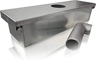 Grease Box for Restaurant Canopy Hood Exhaust Fan (Includes Down Spout)