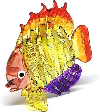 ZOOCRAFT Tropical Glass Sea Fish Figurine Hand Blown Art Sealife Collectible Miniature Aquarium Decor