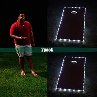 Blinngo 36 LED Cornhole Board Lights Eco-Friendly, Weather Resistant LED Cornhole Lights for ACA Official Size Boards (4ft x 2ft)