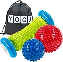 YOGU Foot Massage Roller Spiky Ball Trigger Point Therapy Myofascial Release Deep Tissue Massager Relieve Plantar Fasciitis Heel Spurs Foot Arch Pain Acupressure Reflexology Relax Sore Muscle Knots