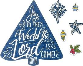 مجموعة قوالب الإطار 663162 من Sizzix مع أختام شجرة الكريسماس، Joy to The World، 8 قطع، متعددة الألوان
