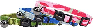 DOGNESS Pets Camo Cat Collar with Bell, Set of 3, Solid & Safe, Nylon, Mixed Colors, Pet Collar, Breakaway Cat Collar