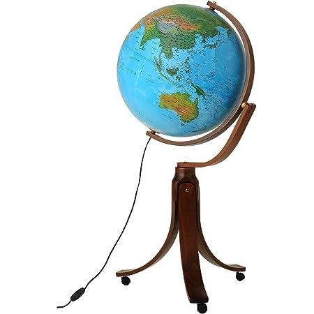 ORBYS 地球儀 リベラ50 球径50cm 地勢図 45030