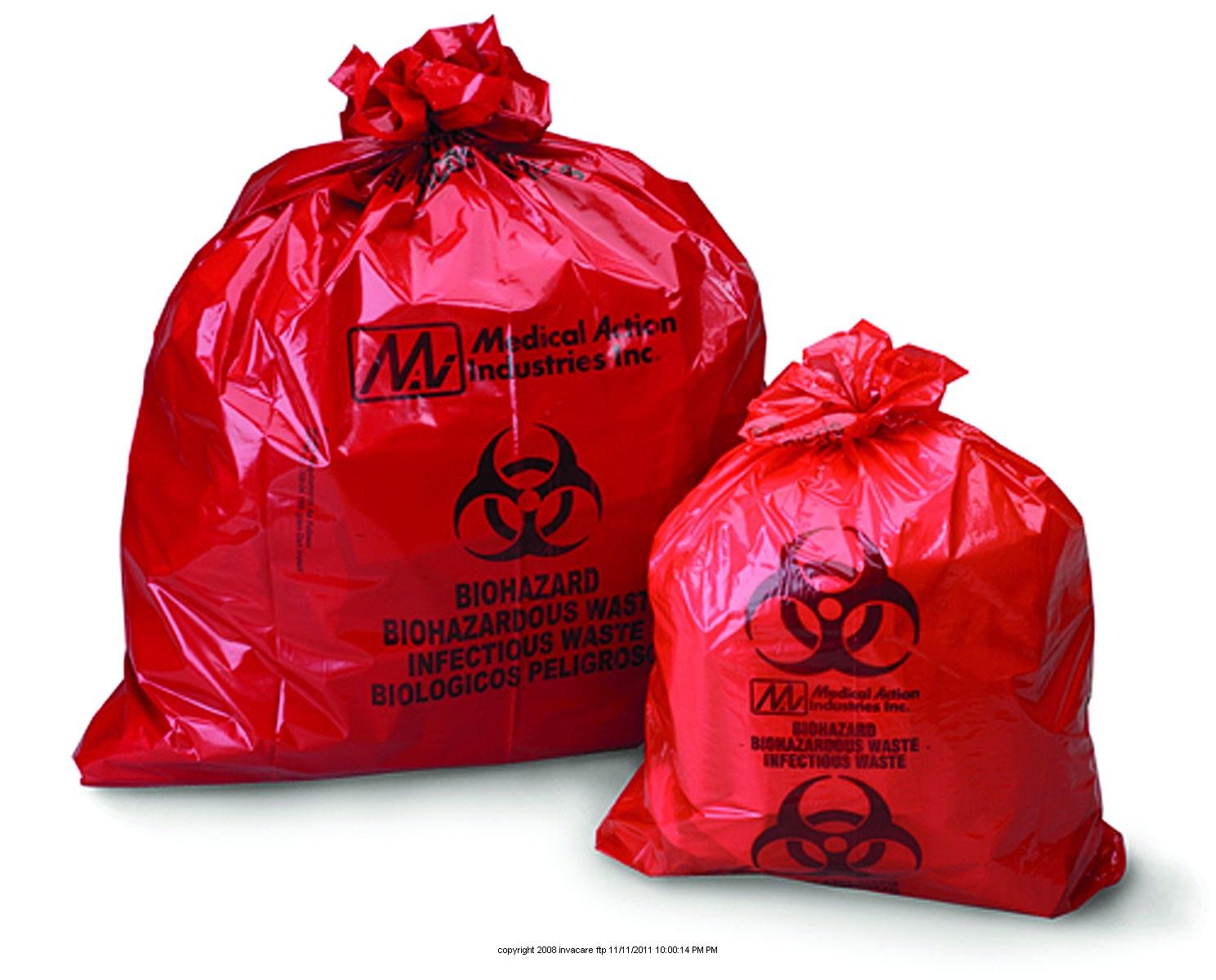 Biohazard Waste Bag WST 23X23 10 1 CASE Gal 4 years Time sale warranty 50