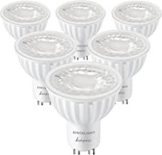 SINCELIGHT GU10 LED Light Bulb 60° Reflector, 6W, RA≈92, Neutral White 4000K, Non-Dimmable, 550 Lumens Equivalent to 50W H...