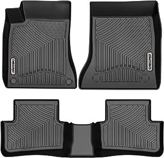 oEdRo Custom Fit Floor Mats for 2014-2019 Mercedes Benz CLA/2015-2019 GLA, Black TPE All Weather 2 Row Liner Set