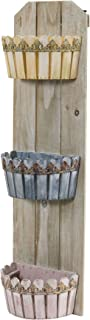 Nearly Natural 35 in. Triple Wall Planter, Multi