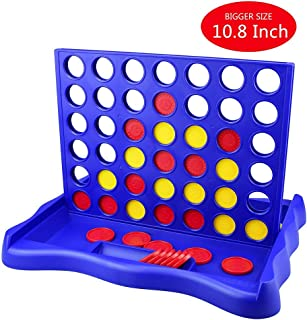 IAMGlobal 4 in a Row, Board Games, Four in a Row Game, Line Up 4, Classic Family Toy with Sunflower Disc for Kids and Family for Fun (Sunflower)