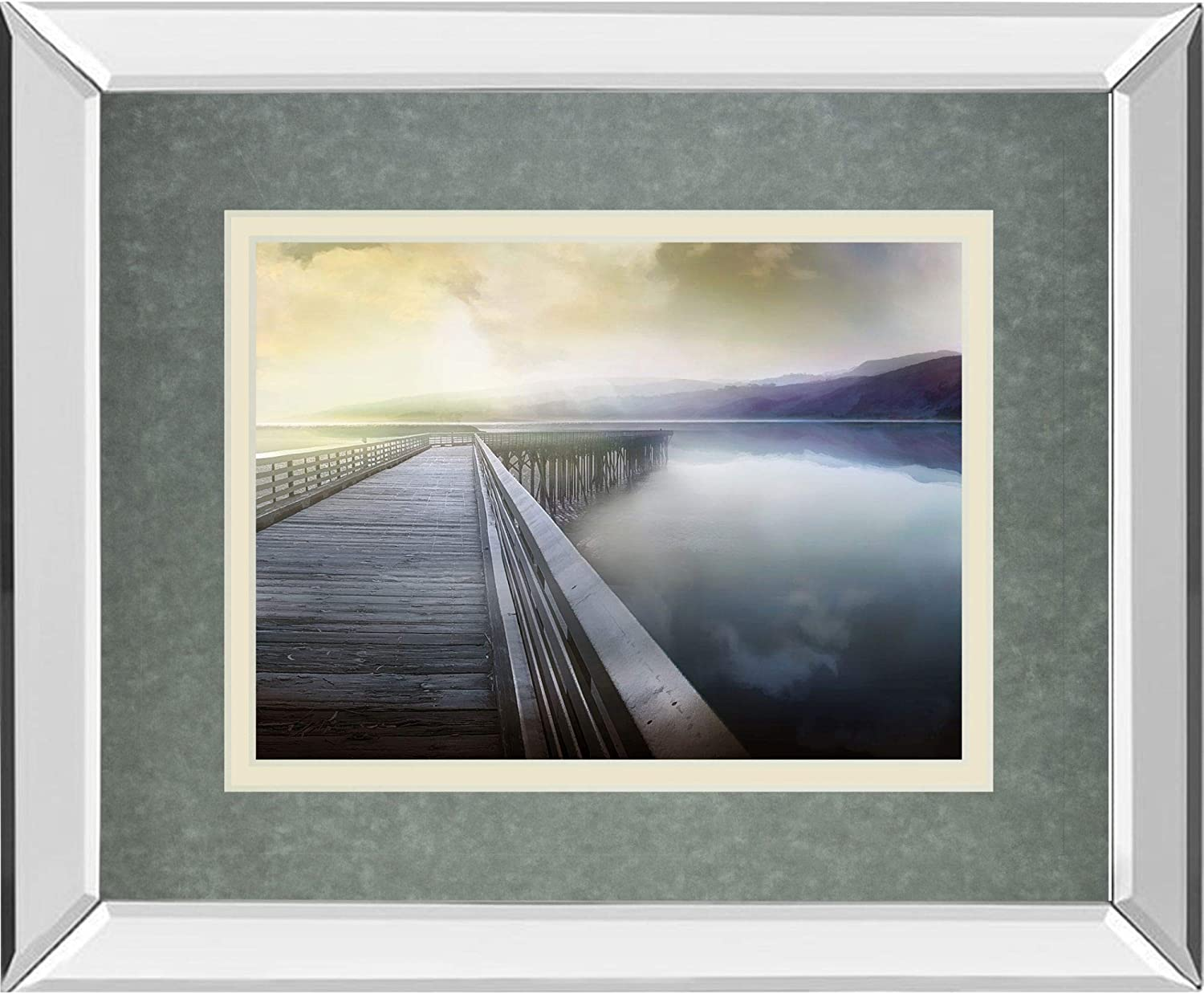 Contemporary Home Living Hazy Morning Frame Wall High quality New product type Mirror Hang Art
