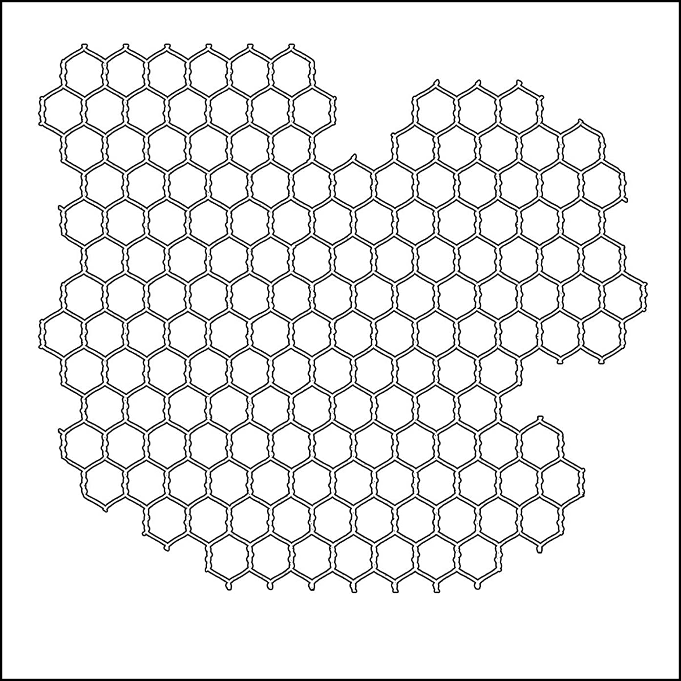 Crafters Workshop TCW6X6-239 Template, 6 by 6-Inch, Mini Chicken Wire