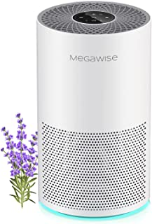 MegaWise Smart Air Purifier for Home Large Room up to 804ft², H13 True HEPA Filter with Smart Air Quality Sensor, Sleep Mo...