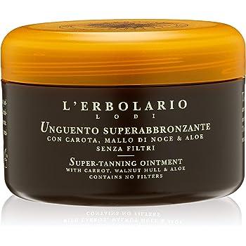 L'Erbolario, Unguento Super Abbronzante, con Carota, Mallo di Noce e Aloe, 200 ml