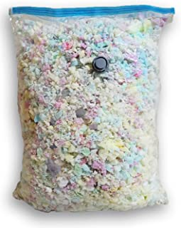 Fine Shredded Polyfoam - Filler for Stuffing, Upholstery, Pillows, Crafts, Bean Bags, Chairs, Sofa, Pet & Dog Beds, and More - Made in USA (10 Pound)