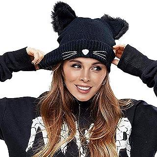 carino colore: nero Dxlta alla moda incrociato lavorato a maglia Berretto a turbante per donna invernale