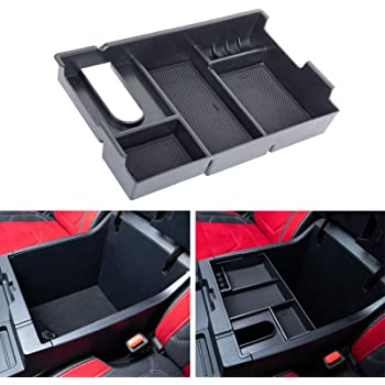JDMCAR Center Console Organizer Compatible with Tundra Accessories 2014-2020 2021,Armrest Box Secondary Storage Tray