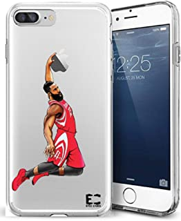 Epic Cases iPhone6 Plus iPhone 7/iPhone 8 Plus Case Ultra Slim Crystal Clear Basketball Series Soft Transparent TPU Case Cover Apple (Harden MVP Rockets, iPhone 6/7/8 Plus)