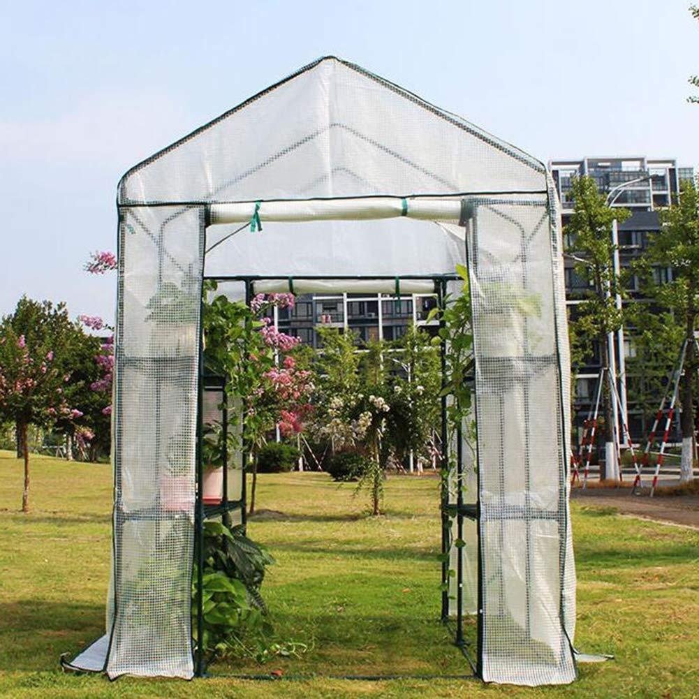 La jardinería de Efecto Invernadero, jardín al Aire Libre Planta Shack Impermeable a Prueba de Lluvia de plantación jardín de Flores de vivero de Flores PE, 2 Colores BAI Yin: Amazon.es: Hogar