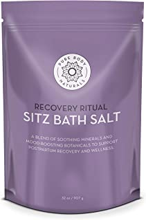 (950ml) - Sitz Bath Salt - Postpartum Care and Hemorrhoid Treatment - Natural Sitz Bath Soak with Epsom Salt, Dead Sea Sal...