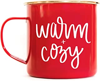 Sweet Water Decor Warm and Cozy Campfire Mug Large Red Tea-Cup Coffee Lover Coffee Mug Christmas Gift For Her Hot Chocolate Holiday Gifts Accessories Stocking Stuffer Mugs Winter Decorations Tea Cup
