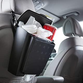 Rubbermaid 3317-20 Automotive Hanging Trash Can with Flip Top Lid: Leakproof Car Garbage Bin/Waste Basket Organizer Caddy