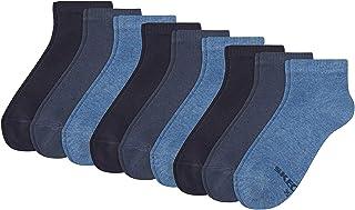 Skechers, Calcetines Mujer - Cuartos, Suave Mezcla de Algodón, Monocromo, Paquete Económico, 9er Paquete (3x 3P), 35-42, Negro o Blanco - Azul, 35/38-9P