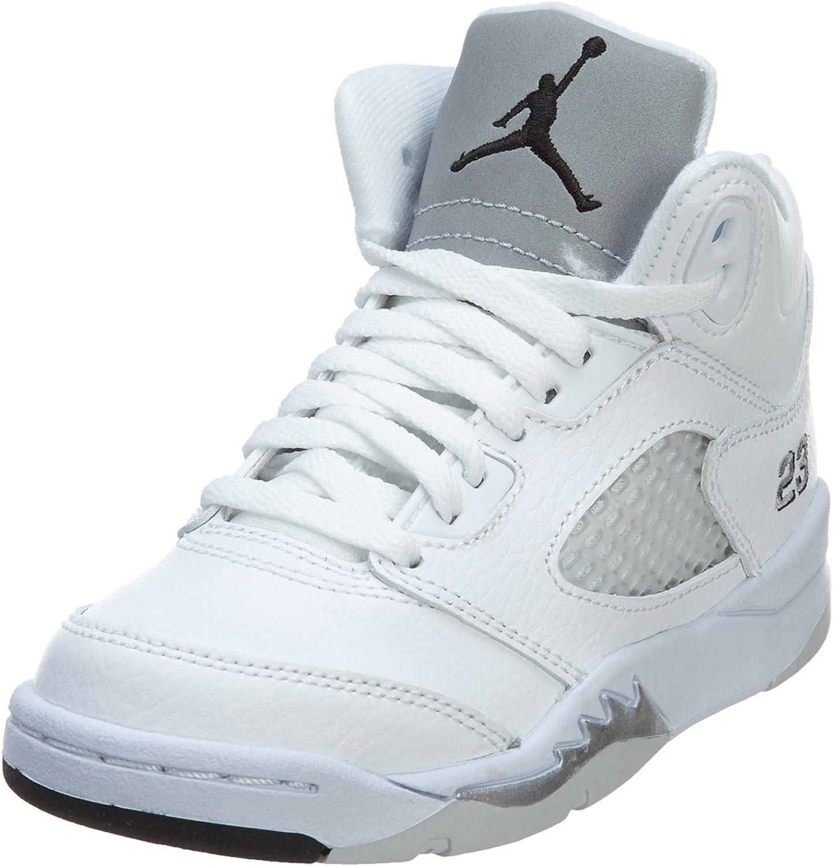 Air Jordan Retro 5 White/Fire Red Kids Grade School (GS) 440888-100
