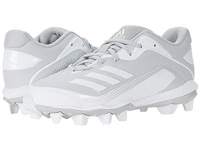 adidas Kids Baseball Icon 6 MD Baseball (Toddler/Little Kid/Big Kid) (Team Light Grey/Footwear White/Footwear White) Kids Shoes