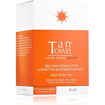Tan Towel Half Body Plus, 10 Count