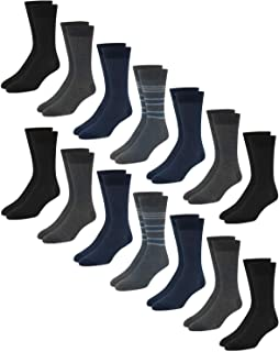 Van Heusen Men's Dress Socks - Lightweight Mid-Calf Crew Dress Socks (14 Pack)