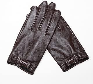 Fly® Winter Ladies Warm Sheepskin Gloves Fleece Inner Lining Motorcycle Gloves (Color : Brown)