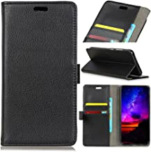 TOTOOSE Wiko View Max Case,Protects Man Premium PU Leather Wallet Case Man Kickstand Credit Card Slot Cash Holder Flip Cover Wiko View Max Black