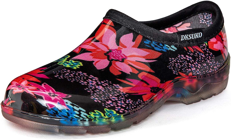 DKSUKO Women's Waterproof Garden Shoe Lightweight Rain Footwear with Comfort Insole