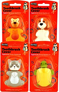 Dentek Animal Toothbrush Cover | Animals May Vary | 1 Count (Pack of 4)
