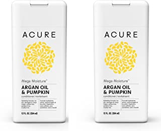Acure Mega Moisture Conditioner - Argan Oil & Pumpkin, 12 Fluid Ounces PACK/2
