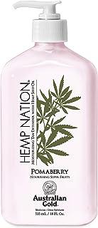 Australian Gold Pomaberry Hemp Nation Moisturizing Tan Extender Lotion, 18 Ounce | Hemp Seed Oil