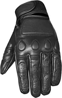 New Vintage Mens Leather Cruiser Protective Motorcycle Riding Racing Gloves S