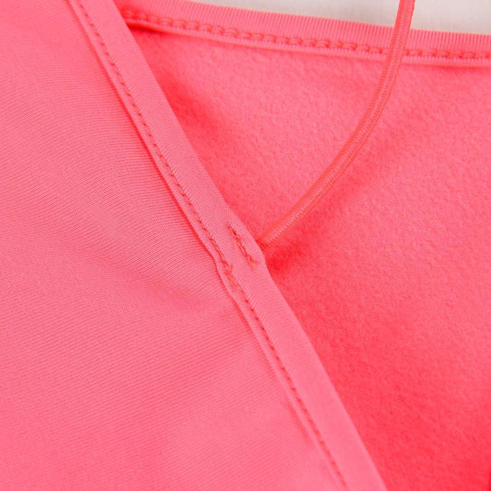 RIMODA Women's Sexy Neon Asymmetrical Spaghetti Strap Dress Deep V-Neck Sleeveless Bodycon Midi Club Dress (Rose-red,M)