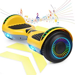 """FLYING-ANT Hoverboard Self Balancing Scooters 6.5"""" Flash Two-Wheel Self Balancing Hoverboard with Bluetooth Speaker and LE..."""