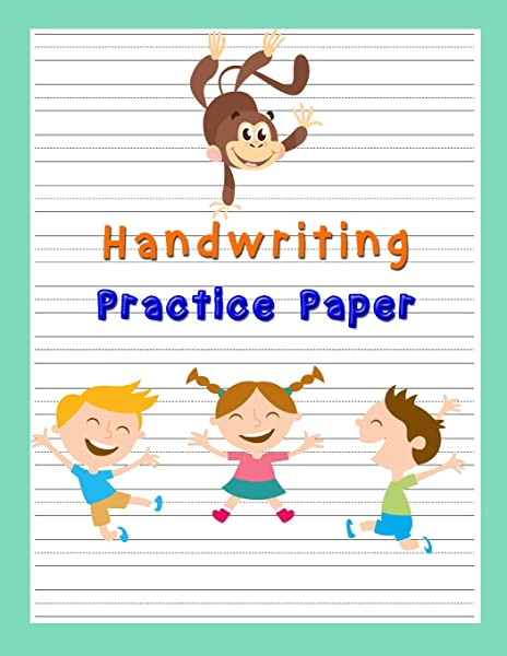 Handwriting Practice Paper Pre K Kindergarten 100 Pages Notebook With Dotted Lined