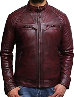 Generic Mens Business Insulated Windproof Sherpa Lined Suede Leather Trucker Jacket