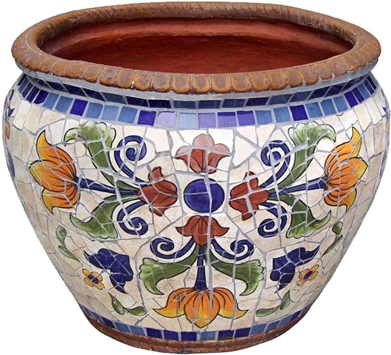 Save money Max 63% OFF UimimiU Colorful Planter Outdoor Large Pot Classic Plant Ceramic