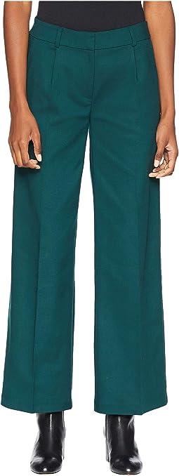 Drapey Tencel Stretch Wide Leg Trousers