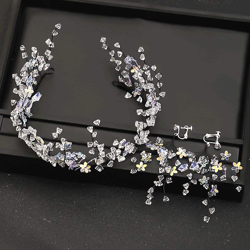 Trendy Stars Free shipping on posting reviews Crystal Headbands Wedding Tiara Ear and with Crowns Quantity limited