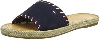 Interlace Suede Flat Sandal, Sandalias con Plataforma para Mujer