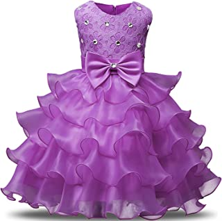 3ce187a4492 NNJXD Girl Dress Kids Ruffles Lace Party Wedding Dresses